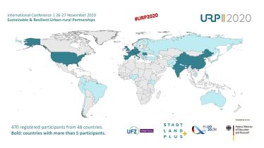 URP2020 - Map of particpating countries