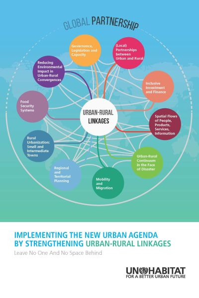 Titelseite UN-HABITAT | Implementing the New Urban Agenda by Strengthening Urban-Rural Linkages