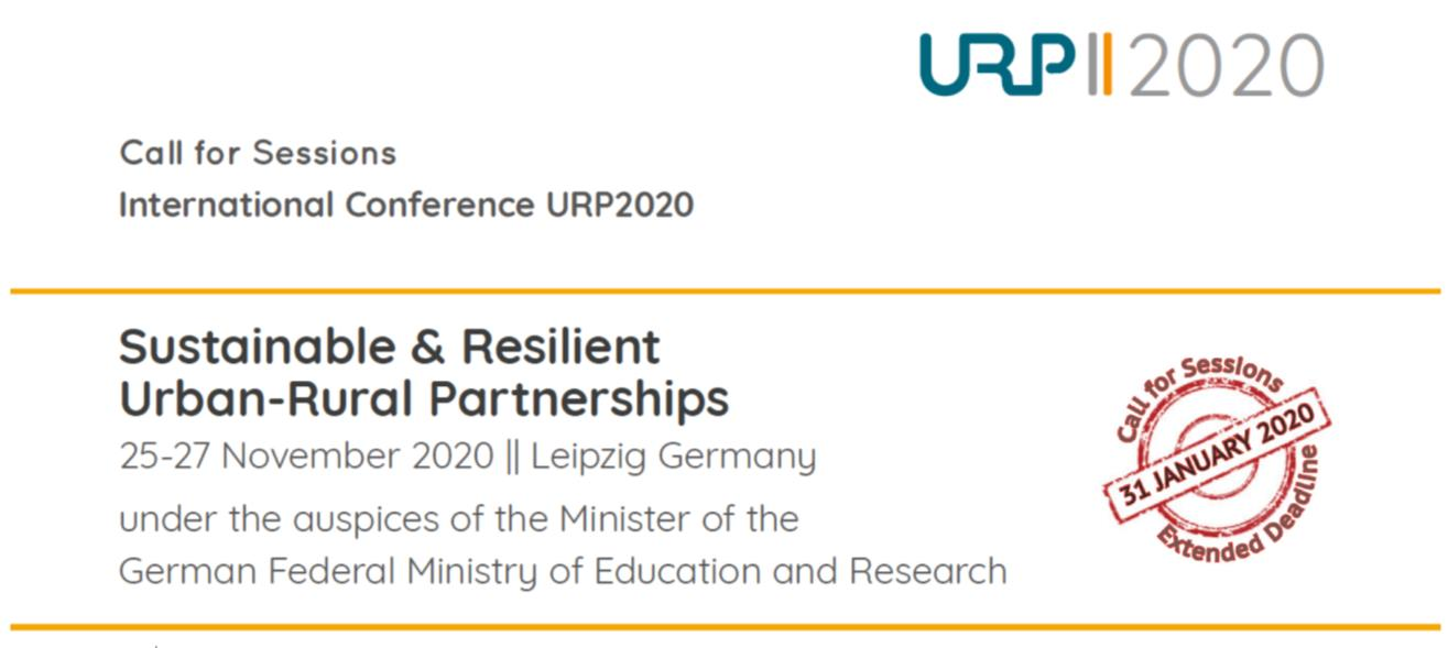 URP2020 - Sustainable and Resilient Urban-Rural Partnerships